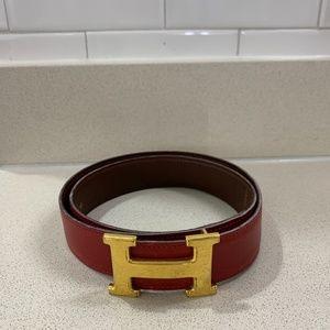 Authentic HERMES H Belt Kit, Size 80